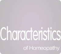 Characteristics of Homeopathy