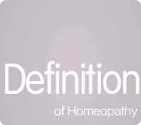 Definition of Homeopathy